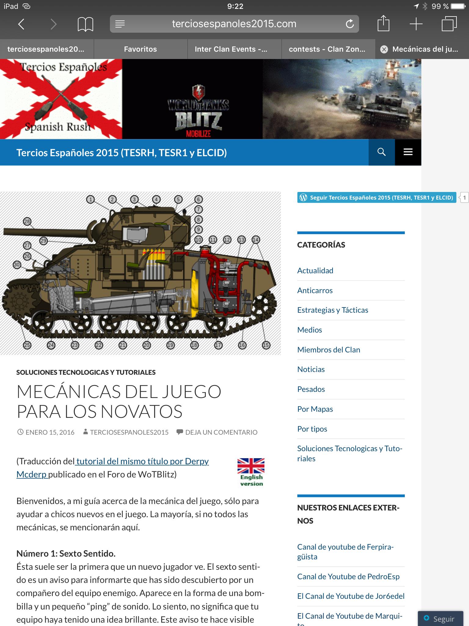 La Web de Tercios Españoles contará con una versión en